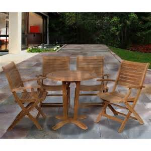 Bistro Patio Furniture Clearance 5 Teak Patio Bistro Furniture Set Target
