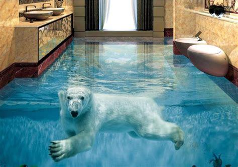 Custom Vinyl Wall Murals custom vinyl flooring adhesives polar bear underwater
