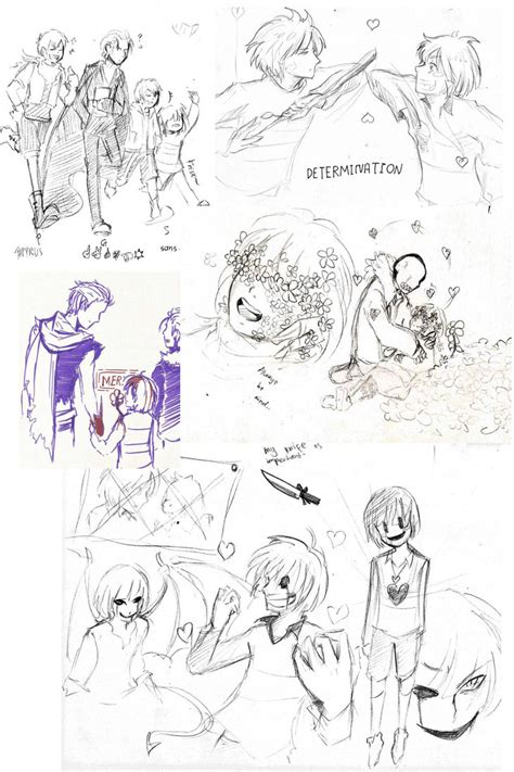 undertale sketchbook undertale sketch dump 2016 01 by scarletterosedezzean on
