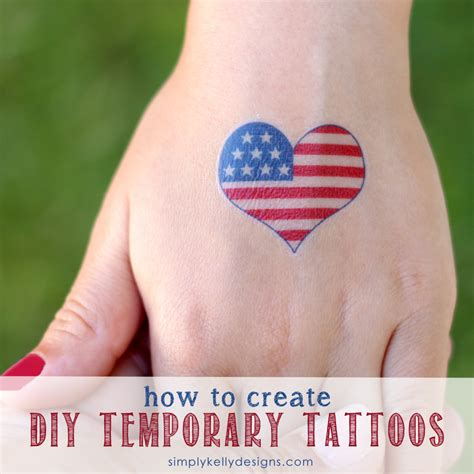 tattoo easy to make how to create diy temporary tattoos 187 simply kelly designs