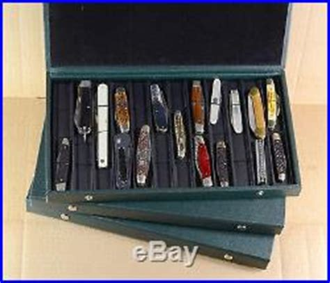 folding knife storage two pocket knife storage display with folding lid