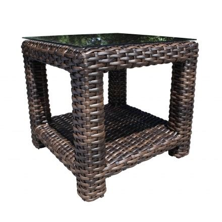 reside wicker monterosso corner sofa louvre wicker seating end table patio furniture at