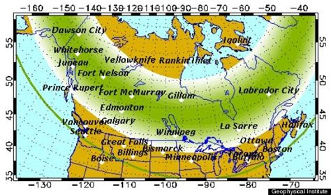 where can the northern lights be seen northern lights vancouver may be spotted this weekend