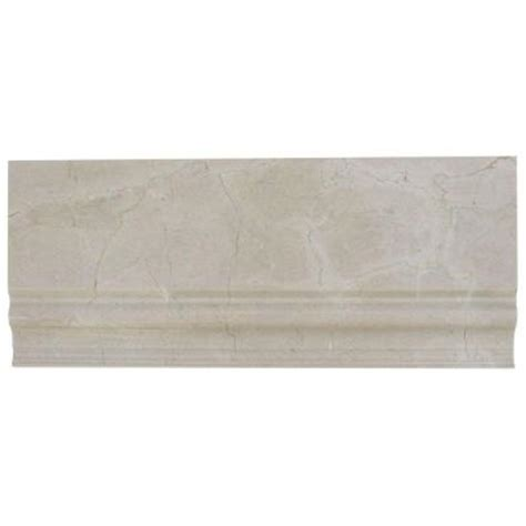 splashback glass tile crema marfil base molding 5 in x 12