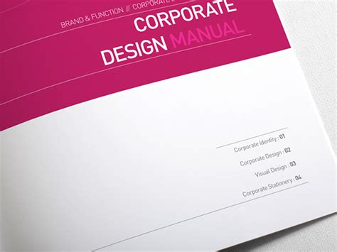 manual cover template corporate design manual book cover digital graphic