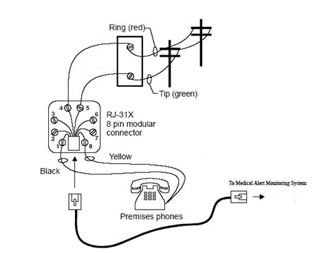 4 wire phone wiring diagram get free image about