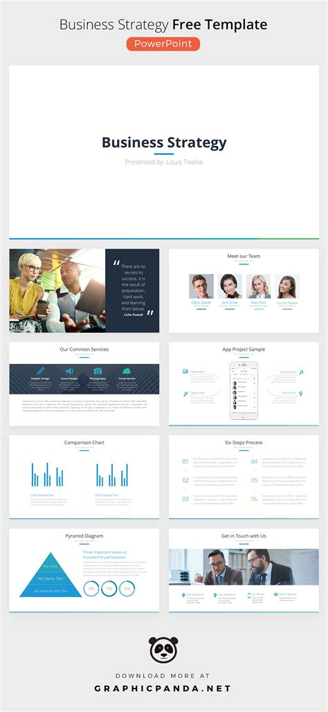 free business strategy powerpoint template on behance
