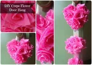 Create crepe paper flowers door hang lw vogue
