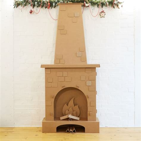 Fireplace Cardboard by 1000 Ideas About Cardboard Fireplace On