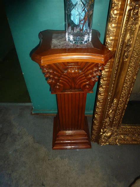 pedestales de marmol columnas pedestales de madera y marmol valor unitario
