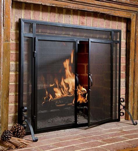 wide fireplace screen plow hearth screens reviews wayfair
