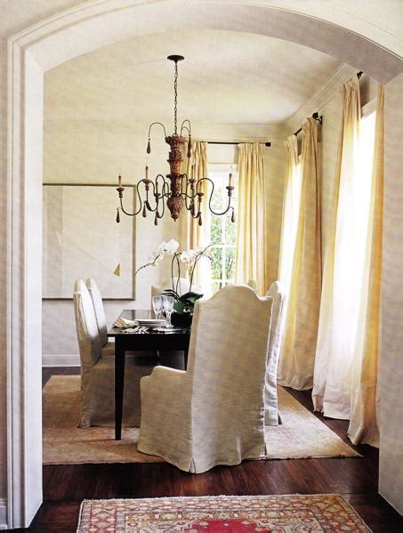 butter yellow curtains dining room