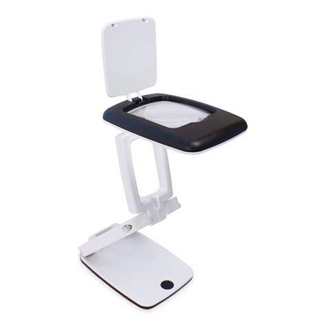 kaca pembesar meja magnifier 3x dengan lu led black white jakartanotebook