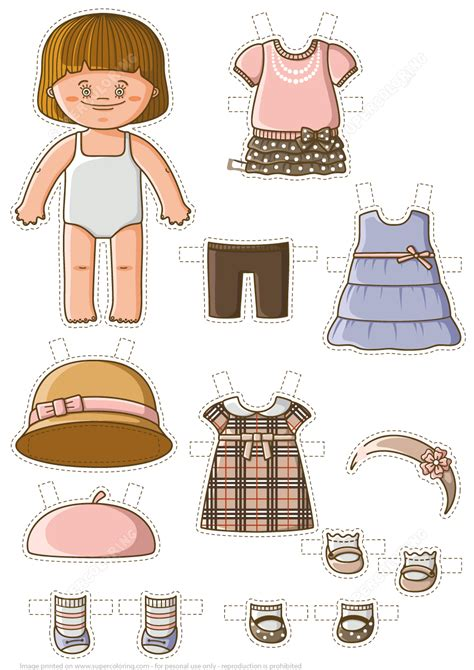 dress up baby paper doll free printable papercraft templates