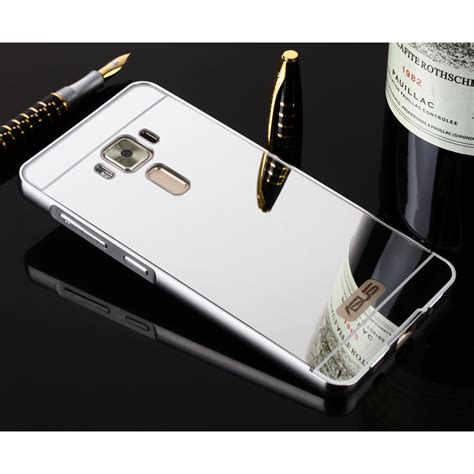 Mirror For Zenfone 3 Silver new mirror aluminum bumper frame acrylic for asus