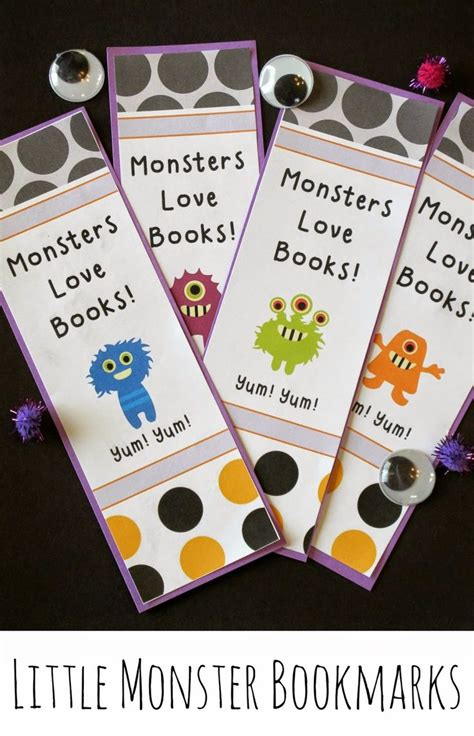 printable monster bookmarks 53 best images about library printable bookmarks on