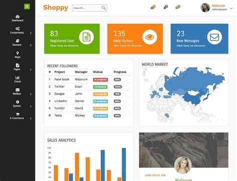 10 Inspiring Admin Dashboard Layouts Download Free Premium Wordpress Themes And Html Templates Work Dashboard Template