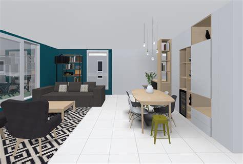 Salon Bleu Petrole by R 233 Alisation Bleu P 233 Trole Et Gris Basalt Sk 233 A Designer