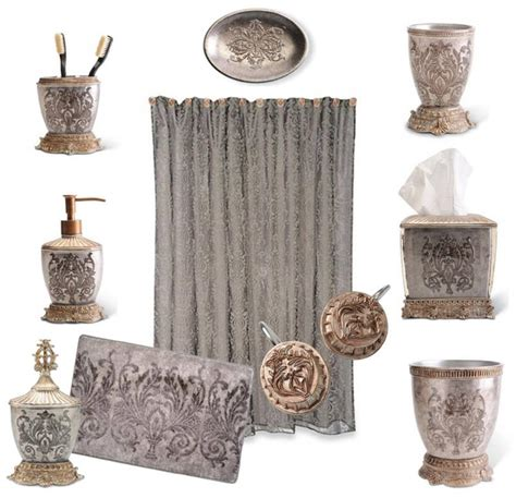 Damask Bathroom Accessories Monogrammed Damask Bathroom Damask Bathroom Accessories