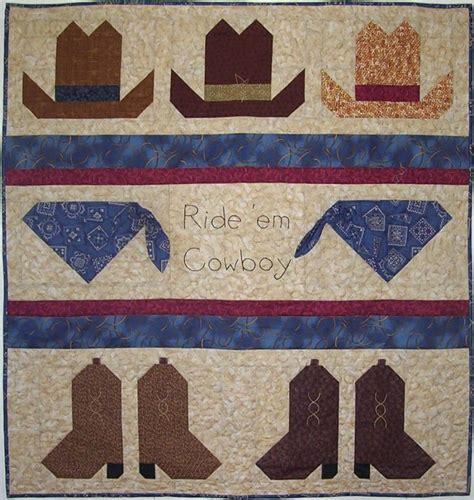 Cowboy Quilt Pattern by Ride Em Cowboy Boy Baby Quilt Pattern