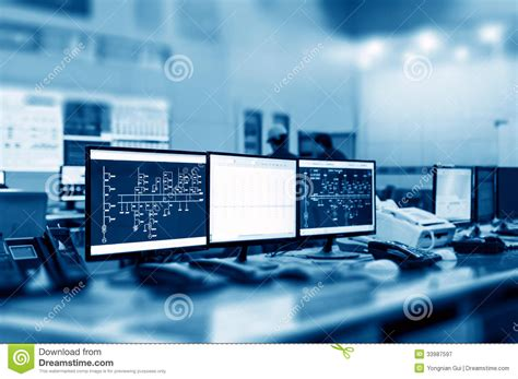 what is computer room management modern plant room royalty free stock photography