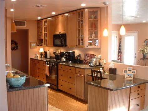 galley kitchen lighting small galley kitchen design in walnut color the best