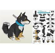 PAPERMAU Chobi Dog Paper Toy  By Ten Pepakura