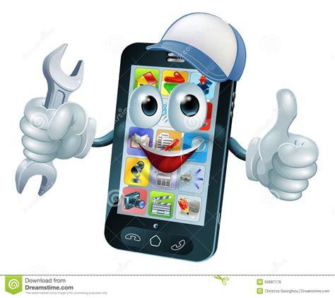mobile repair mobile repair mascot stock vector image 50687176