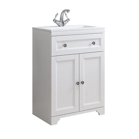 White Bathroom Vanity Units by Cooke Lewis Chadleigh Matt White Vanity Unit Basin Set