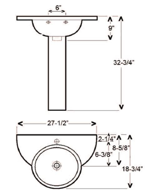 Pedestal Sink Dimensions Pedestal Sink Dimensions Images Frompo 1