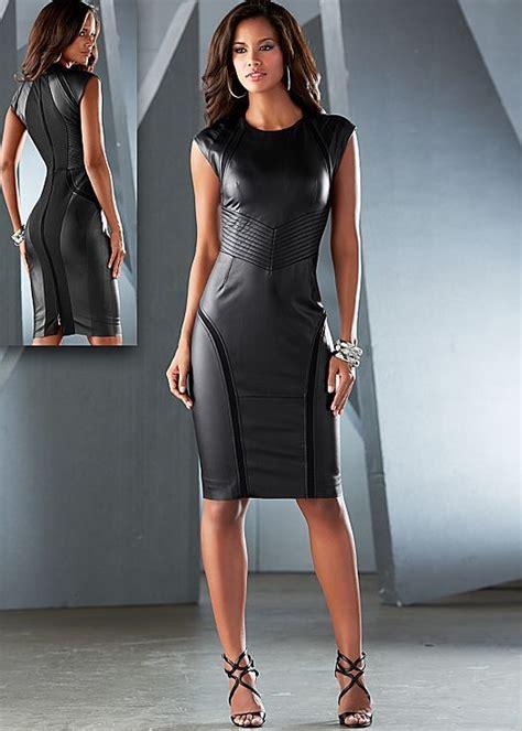 faux leather sheath dress   venus   dresses