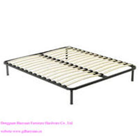 bed parts names queen size wooden slatted metal bed base from dongguan