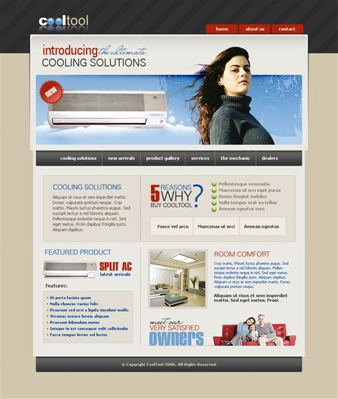 templates for electronics website air conditioning css template 2413 electronics