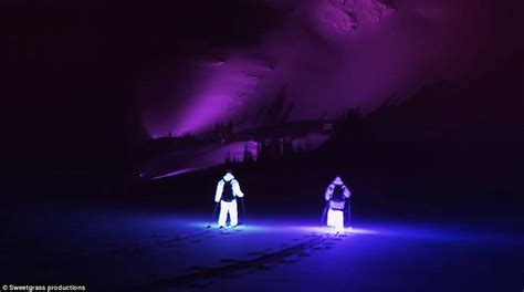 Philips Lead The Way As Tech Companies Move Into The Glossy Mags by Afterglow Shows Ski Suits With 7 000 Led Lights On