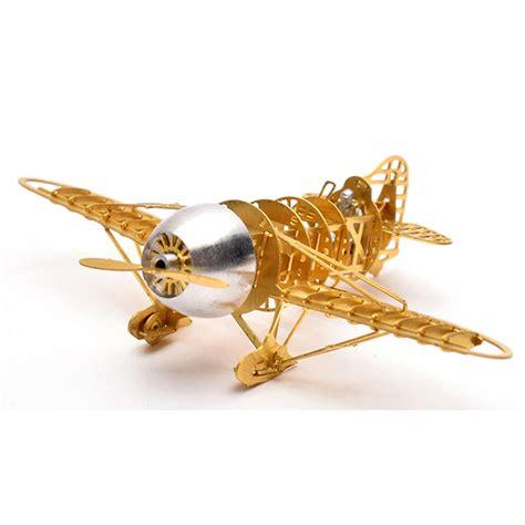3d Metal Puzzle Bumblebee 3d metal puzzle geebee racer r 2 airplane b16006 diy 3d laser cut assemble models toys for audit