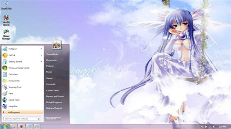 Anime Computer Themes Windows 7 | anime girls 35 windows 7 theme by windowsthemes on deviantart