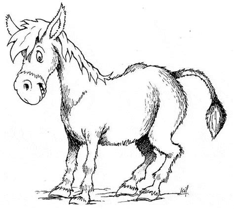 free coloring page donkey donkey coloring page animals town animals color sheet