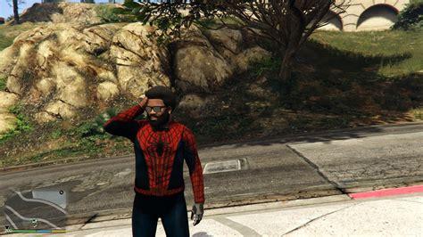 mod gta 5 spiderman hd spiderman costume replica pack black spider suit
