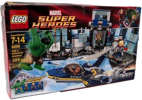 Murah Lego Superheroes 6868 S Helicarrier Breakout lego marvel heroes hulks helicarrier breakout set 6868 damaged package toywiz