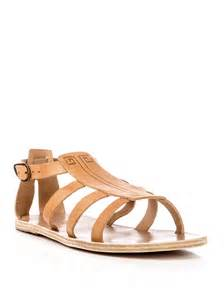 ancient greek sandals dionysos sandals in natural lyst