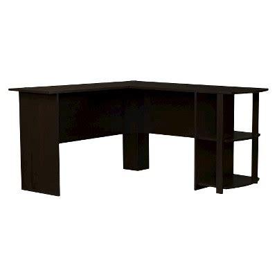 altra dakota l shaped fieldstone l shaped desk with bookshelves espresso
