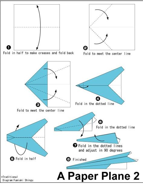 How To Make An Easy Paper Airplane That Flies Far - 25 best ideas about origami airplane on make