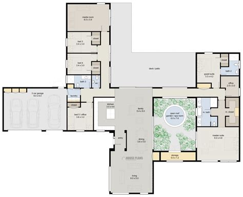 plans room luxury ranch house plans story bedroom bathroom dining