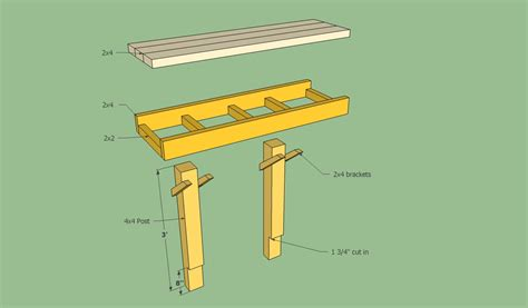 how to build a bench with a back deck bench plans free howtospecialist how to build step by step diy plans
