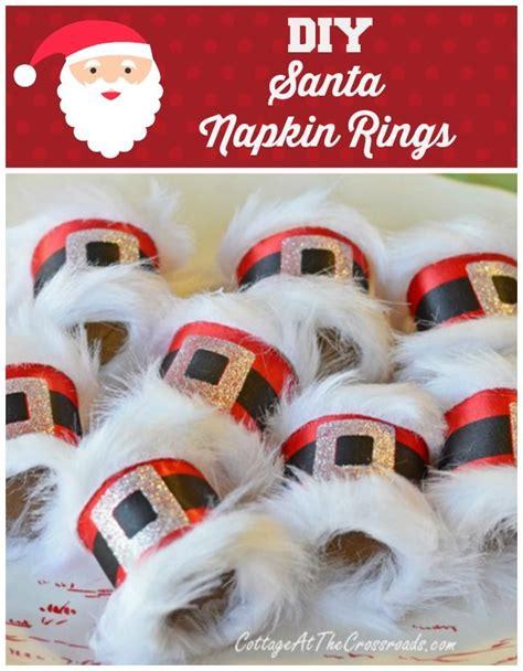 printable christmas table decorations diy santa napkin rings napkin rings napkins and santa