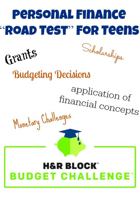 Enter Your Teen in the H&R Block Budget Challenge for ... H And R Block Budget Challenge Tips