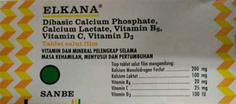 Vitamin Elkana Tablet Elkana Kegunaan Dosis Efek Sing Mediskus