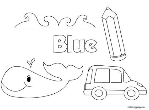 coloring page of blue the color blue coloring page