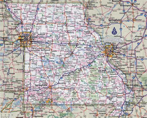 map missouri large detailed roads and highways map of missouri state with all cities vidiani maps of
