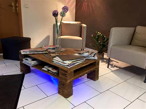 Coffee Table With Lights Rustic Pallet Coffee Table Wit Led Lights